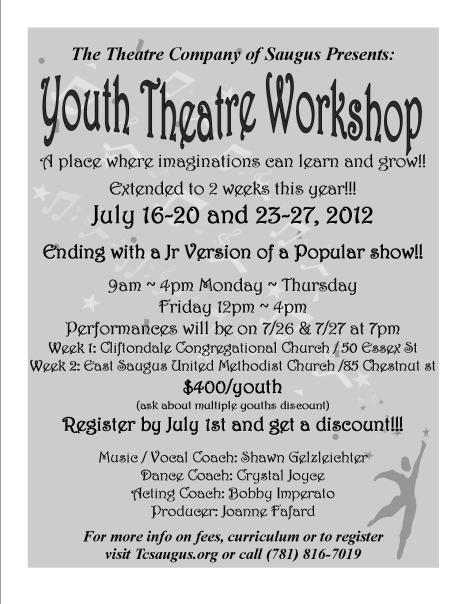 Youth Theatre Workshop flyer 2012