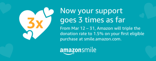 Amazon Smile Special Mar 12-31